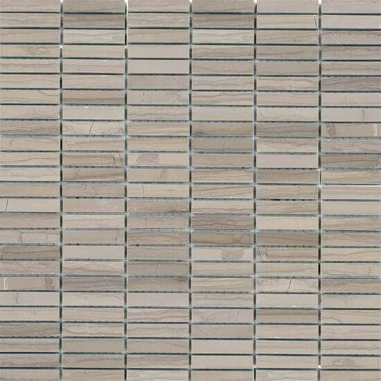 Athens Gris Polished Stacked Brick Mosaic by .